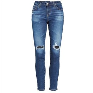 AG jeans Distressed The Legging Ankle Skinny Jeans